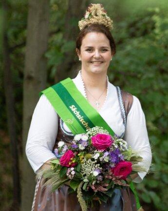 Wibke Frotscher ist die neue sächsische Erntekönigin. Ihre Amtszeit dauert zwei Jahre. Gerade hat die gebürtige Vogtländerin ihr Landwirtschaftsstudium beendet.
