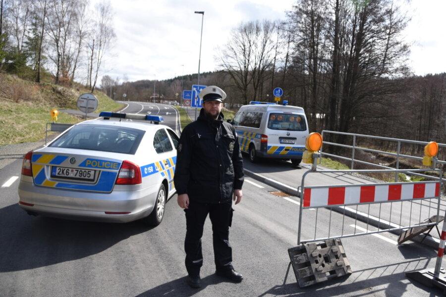 Grenzübergang Fleißen (Plesná) bei Bad Brambach/Vogtland
