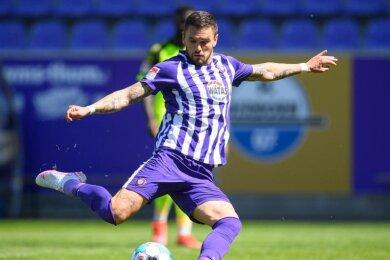 Stürmt künftig nicht mehr für, sondern gegen den FC Erzgebirge: Pascal Testroet.