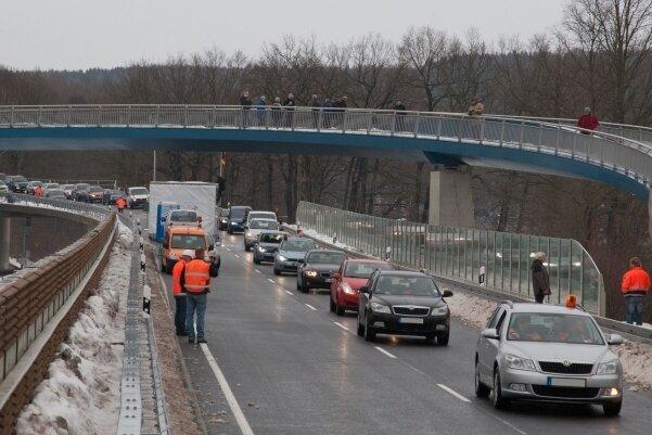 17. Dezember 2012: Feierliche Verkehrsfreigabe des ersten Abschnittes der Ortsumfahrung B 173 in Flöha.