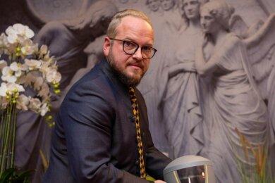 Bestatter Andreas Kohls führt das Torus Trauerhaus Rochlitz im zehnten Jahr.