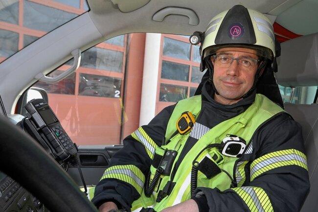 Der Meeraner Wehrleiter Kai Götze befürchtet bei der Ausbildung auf Landesebene einen großen Nachholbedarf für die Feuerwehrleute.