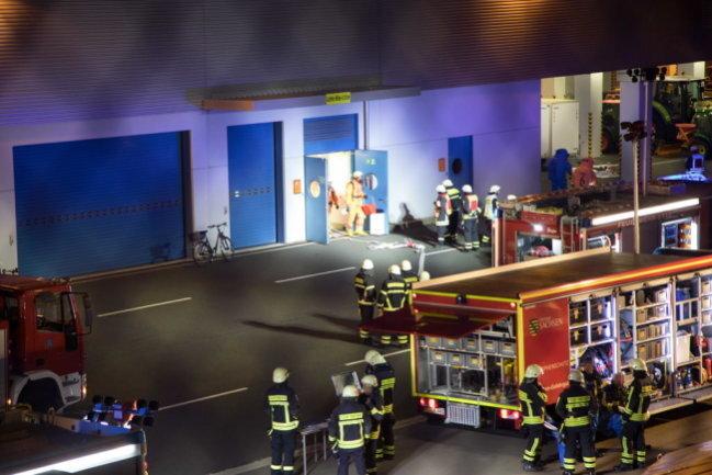Gefahrguteinsatz bei Siltronic in Freiberg