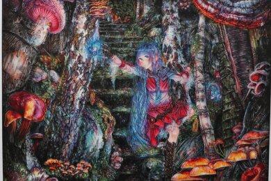 """Ein Ausschnitt aus Levi Goethes Zeichnung """"Vielfalt"""", mit der er es ins Finale des Copic Awards in Japan geschafft hat."""