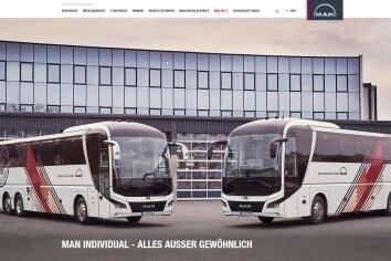 """""""Alles außer gewöhnlich"""": Noch immer schmückt sich der MAN-Konzern auf seiner Webseite mit dem ehemaligen Standort in Plauen."""