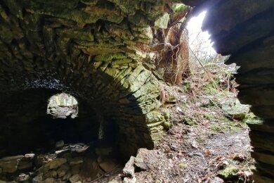 Der Keller der einstigen Spinnerei ist heute noch begehbar. Gegen Ende des Zweiten Weltkriegs wurden dort Lebensmittel gelagert.