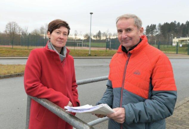 Mandy Remus und Jörg Schürer vom LV Olympia Kirchberg hoffen, dass es im Frühjahr wieder mit dem regulären Vereinstraining und ersten Wettkämpfen losgehen kann.