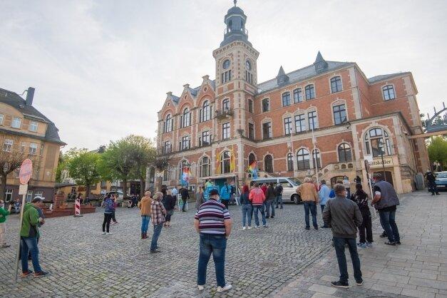 Das maximale Kontingent von 50 Demonstrationsteilnehmern ist auf dem Stollberger Marktplatz nicht ausgeschöpft worden.
