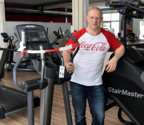 André Säbsch, Inhaber des Fitness For You-Clubs in Oederan, hofft auf ein Ende des Zwangssperrung und wünscht sich Planungssicherheit.