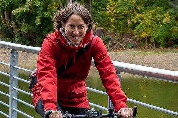 Hat Auerbach voriges Jahr mehrfach per Rad erkundet: Antje Böttcher vom Verein Verkehrswende.