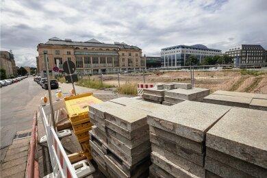 Auf dem Areal des einstigen Tietzparkplatzes dürften sich bald die ersten Kräne drehen. Als erstes soll im Bereich Moritz-/Zschopauer Straße ein moderner Wohnkomplex gebaut werden.