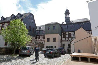 Die Bühne (rechts) auf der Rückseite des Ratskellers soll für Konzerte, Kabarett oder kleine Theatervorführungen genutzt werden.