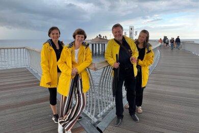 Die Studio-WM-Familie an der Ostsee: Claudia Müller-Kretschmer, Karin und Wieland Müller sowie Susanne Müller-Kaden (von links).