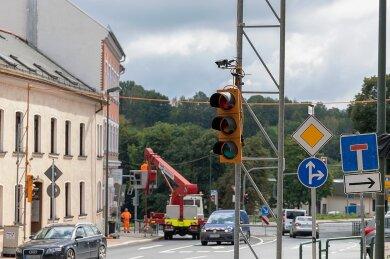 Diese Woche werden die Baustellenampeln montiert, ab nächste Woche gilt dann eine neue Verkehrsführung zwischen Schützenplatz und Lauckners Kreuzung. Grund dafür sind die bauvorbereitenden Arbeiten auf dem Schützenhausareal, wo die Diakonie einen Neubau errichten lässt.