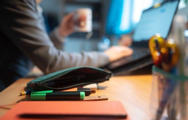 Arbeit im Büro oder zuhause? Die Hochschule Mittweida zum Beispiel hat alle Mitarbeiter ins Homeoffice geschickt. Eine Herausforderung stellen auch für Firmen die häuslichen Internetanschlüsse dar.