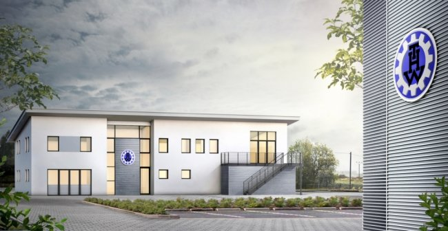 So soll das neue Verwaltungsgebäude für den Ortsverband Aue des Technischen Hilfswerks aussehen. Der Standort wird wieder im Gewerbegebiet in Alberoda sein.