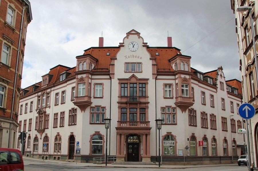 Das Rathaus in Aue.