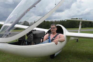 Pascal Schletz hat den ersten 1000-Kilometer-Flug in der Geschichte des Fliegerklubs Auerbach geschafft.