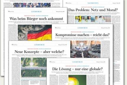 """Großes Echo im Leserforum der """"Freien Presse""""."""
