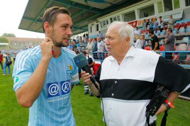 Gert Zimmermann im Interview nach einem Spiel des Chemnitzer FC.