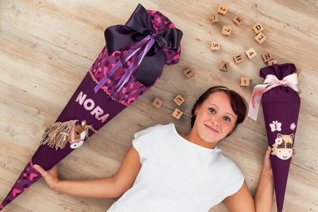 Im vergangenen Jahr hat die Reichenbacherin Sandy Knobeloch mit dem Gestalten von Zuckertüten begonnen.
