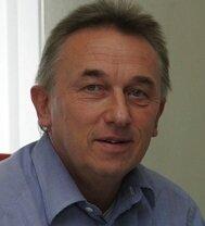 Michael Polster in seinem Büro in Rödlitz von wo aus er seine Großveranstaltungen plant und koordiniert.