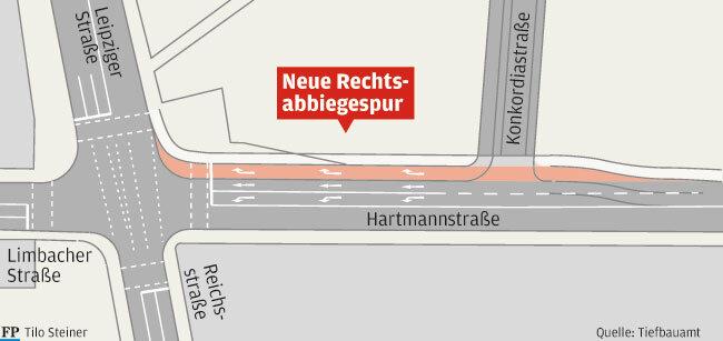 Chemnitz: Rathaus will Verkehr auf der Hartmannstraße flüssiger machen