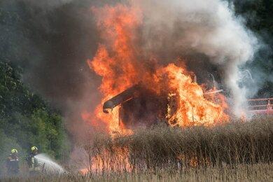 Die Maschine brannte aus.