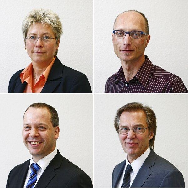 Unsere Experten beim Telefonforum (v.l.o.n.r.u.): Silke Apel, Uwe Kantelberg, Tobias Wachs und Frank Wagner.