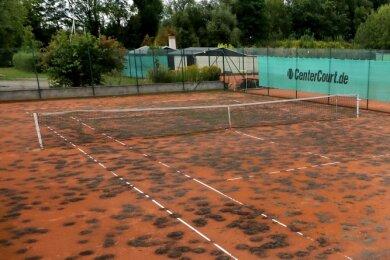 Die Spurenlage auf dem Tennisplatz ist eindeutig.