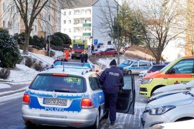 In dieser Siedlung in Reichenbrand war es bei einer Verhaftung zu einem Schusswechsel mit Polizeibeamten gekommen.