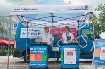 """Die """"Freie Presse"""" digital lesen? Dann gibt es am heutigen Mittwoch Informationen dazu auf der Sommertour zum Digitalabo am Freiberger Häuersteig."""
