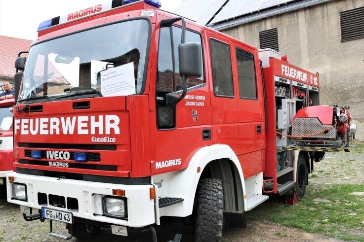 Dieses Löschfahrzeug Iveco ist seit 2001 im Bestand der Ortsfeuerwehr Leubsdorf. Esmuss bald ersetzt werden.