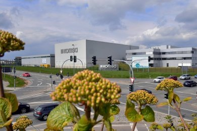 Gehört zu den größten Familienunternehmen Sachsens: Die Komsa AG in Hartmannsdorf.