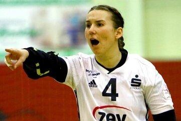 Isa-Sophia Rösike, Mannschaftskapitänin des BSV Sachsen Zwickau, Aufsteiger zur 1.Handball-Bundesliga.