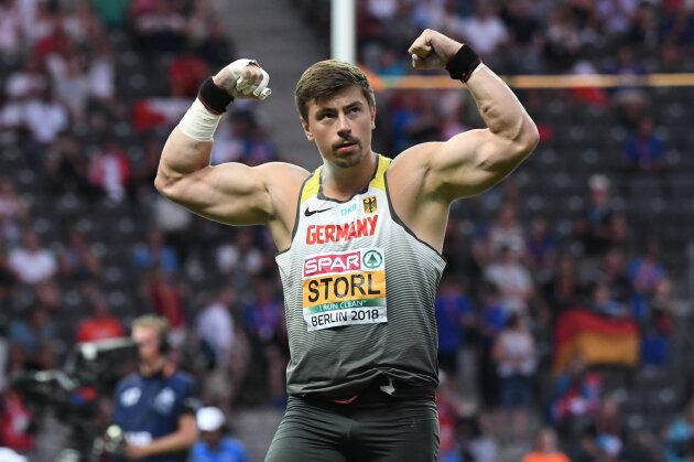Nach dem ersten Versuch ließ Storl noch die Muskeln spielen - am Ende reichte es für Platz 3.