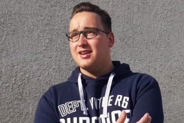 Lucas Schreckenbach (19), Vorsitzender des Jugendbeirates.