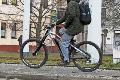 86 Prozent fühlen sich laut der Umfrage gefährdet, wenn sie in Zwickau aufs Rad steigen.