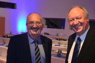 Hochschul-Rektor Ludwig Hilmer (l.) und Hans-Peter Niedermeier.