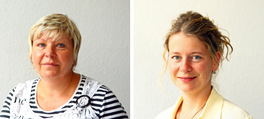 Gabriele Korb (links) und Katrin Landrock standen im Telefonforum Rede und Antwort.