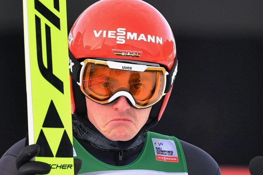 Hat schon bessere Zeiten erlebt: der Breitenbrunner Skispringer Richard Freitag von der SG Nickelhütte Aue. Am 14. August wird er 30 Jahre alt.