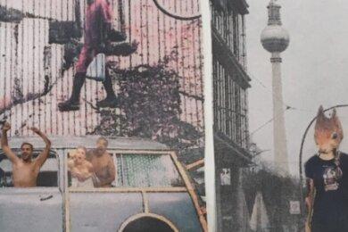 Auszug aus einer Collage von Sarah Stiller. Sie stellt das Leben in der Großstadt in ihrer Vielfalt und Kreativität dar. Dabei arbeite sie vor allem mit Übertreibung, heißt es auf der Facebook-Seite des Erzhammer.