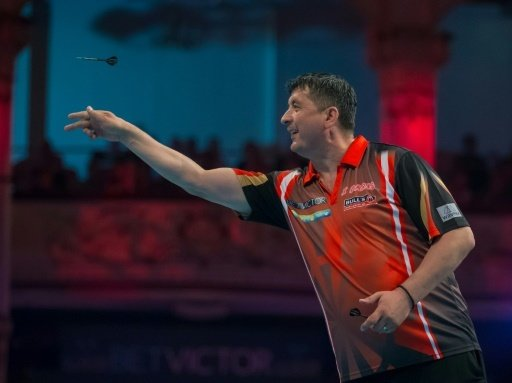 Mensur Suljovic im Finale beim World Matchplay