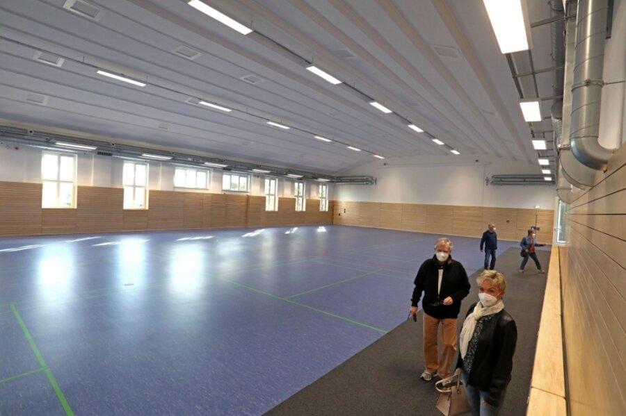 Der Tag der offenen Tür am Mittwoch im Volkshaus Meerane war die erste Möglichkeit, einen Blick in die für rund zwei Millionen Euro sanierte Sportstätte zu werfen.