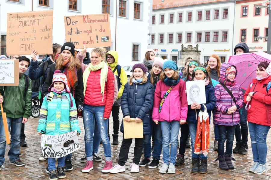 Protest statt Schwänzen für das Klima in Freiberg