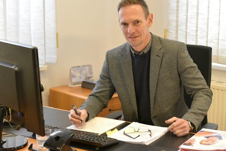 Dirk Müller ist neuer Bürgermeister von Großhartmannsdorf.