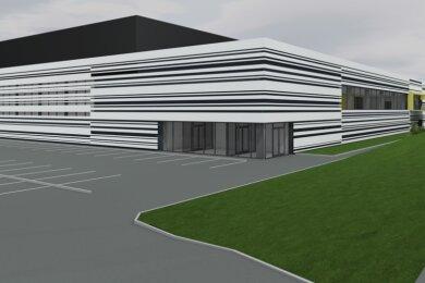 Die geplante Sporthalle in Friedeburg soll Platz für vier Schulsportfelder in Normgröße nebeneinander bieten.