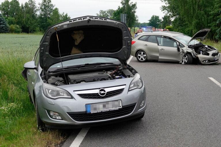 Schwerer Verkehrsunfall in Richtung Mittweida