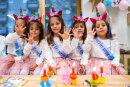 Im Klinik-Kindergarten gab es für Maria, Melissia, Josefina, Justina und Elelyn eine kleine Geburtstagsfeier.