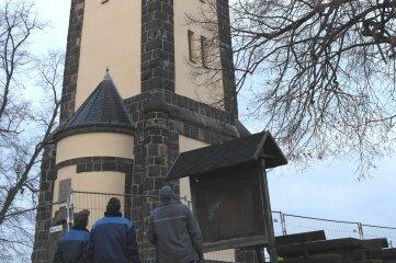 Die Firma Weiß & Dathe war unter anderem an der Sanierung des König-Friedrich-August-Turms beteiligt.